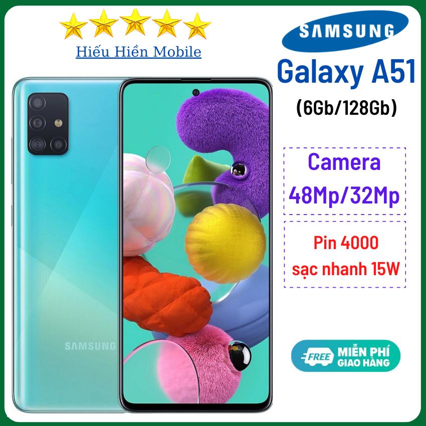 Điện thoại Samsung Galaxy A51 (6Gb/128GB)- Camera sau 48Mp, camera trước 32Mp, ss a51, samsung a51s – Hiếu Hiền- Pin 4000mAh, có sạc nhanh, samsung a51, samsung a51 chính hãng, giá rẻ, – Hàng Chính Hãng