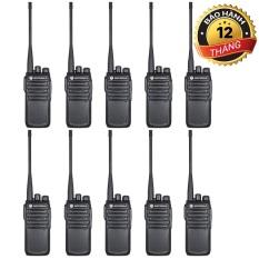 Bộ 10 Máy Bộ đàm Motorola CP838 (Siêu bền, Loa chống từ tính, Pin 3800mAh, cự ly liên lạc xa)
