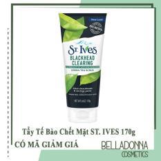 Tẩy da chết làm sạch mụn đầu đen chiết xuất trà xanh ST. ives Blackhead Clearing Green Tea Scrub 170g