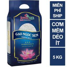 Gạo Ngọc Sen Lotus Rice 5kg – Chuẩn xuất khẩu
