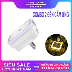 Combo 2 Đèn ngủ led thông minh, cảm biến tự động sáng khi trời tối, hình vuông – Shop Hàng Cực Rẻ