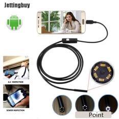 Jettingbuy 5M 6LED5.5mm Nội Soi Android Không Thấm Nước Rắn Borescope USB Kiểm Tra Camera 1M