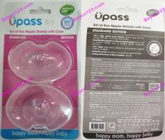 (Đầu ti tròn) UPASS (Thái Lan) – Hộp 02 cái trợ ti ngực silicone mềm cho Mẹ hỗ trợ cho bé bú Upass UP1001X