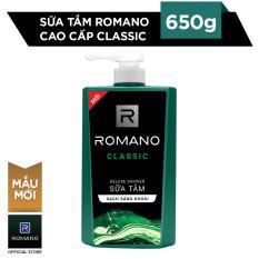 Romano sữa tắm dưỡng ẩm classic 650g