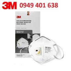 Hộp 25 cái khẩu trang chống bụi 3M 9001V có van lọc mùi hôi, lọc độc, kháng khuẩn, chống bụi siêu mịn