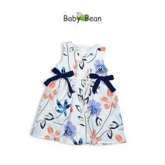 Đầm Lụa Thắt Nơ Eo Bé Gái BabyBean (20kg-35kg)