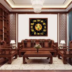 Đồng hồ treo tường Phúc Lộc Thọ -12 con giáp WC019