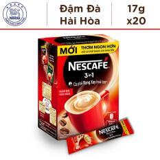 Hộp Nescafé 3in1 Rang xay hoà tan Đậm Đà Hài Hòa – 20 gói x 17g