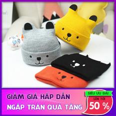 Mũ len dệt kim cho trẻ em, mũ ấm áp mùa đông, phi giới tính, dành cho cả nam và nữ- mũ len hình tai mèo siêu cute cho bé