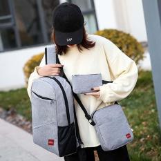 Combo Balo vừa đi học vừa đi làm, đựng laptop 15.6″, Ipad và bóp viết loại cao cấp CHENNY FS06
