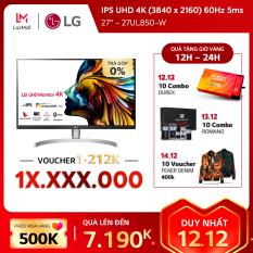 Màn hình máy tính LG IPS UHD 4K (3840 x 2160) 60Hz 5ms 27 inches l 27UL850-W l HÀNG CHÍNH HÃNG
