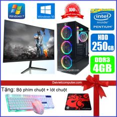 Bộ máy tính PC Game LED CPU Pentium G2010 / i3-3220 / Ram 4GB-8GB / HDD 250GB – SSD 120GB / VGA 1GB – 2GB chơi PUBG mobile, PUBG lite, LOL, CF đột kích, Fifa3, Cs Go, AOE … + Màn hình + [QÙA TẶNG: Bộ phím chuột game, tai nghe] – LDV