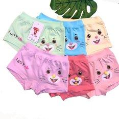 TANOSA 1 chiếc quần chip đùi cotton mềm mịn, cao cấp, in hoạt hình dễ thương cho bé gái