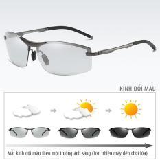 Kính đổi màu gọng nhôm magiê nhẹ, mắt kính polarized phân cực, chống UV – MK1910