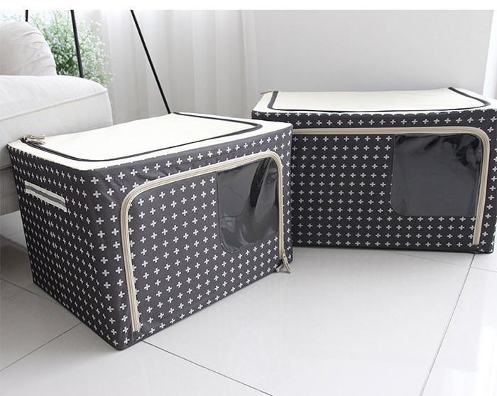 [HCM]Hộp đựng quần áo khung thép gấp gọn tiện ích 88 Lít - Túi đựng đồ đa năng Living box...