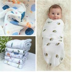Khăn xô đa năng quấn bé sơ sinh 1m2x1m2 hàng đẹp có thể làm khăn tắm chăn mùa hè cho bé và làm ủ quấn