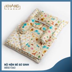 Bộ Nệm Bé Sơ Sinh Khang Home BBS01060