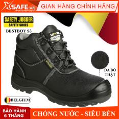 Giày bảo hộ lao động nam Jogger Bestboy S3 cổ cao, da bò thật, chống nước tiêu chuẩn bảo hộ S3 Châu Âu, kiểu dáng thể thao cao cấp – Giày SafetyJogger chính hãng