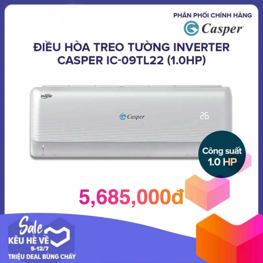 Máy Lạnh Inverter Casper IC-09TL11/22 (1.0HP) - Trắng (GAS 410A)