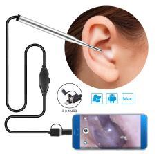Camera nội soi y tế, Camera nội soi tai, mũi, họng – Máy lấy ráy tai HD Visual Earwas Clean Tool cho hình ảnh sắc nét, sử dụng dễ dàng trên điện thoại và máy tính – Bảo hành uy tín