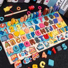 Bộ đồ chơi câu cá và ghép số học đếm mẫu mới , Bộ bảng số thông minh cho bé, đồ chơi trẻ em