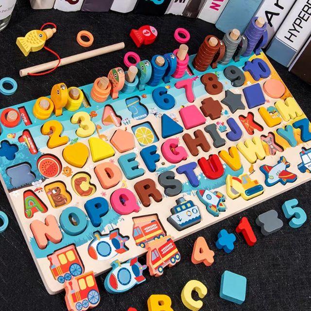Báo giá Bộ đồ chơi câu cá và ghép số học đếm mẫu mới, Bộ bảng số thông minh  cho bé chỉ 155.000₫ | Hàng Đồ Chơi