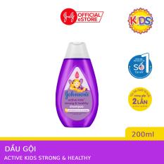 Dầu Gội Giúp Tóc Chắc Khỏe Cho Bé Gái Johnsons Active Kids Strong Healthy Shampoo 200ml 101101405