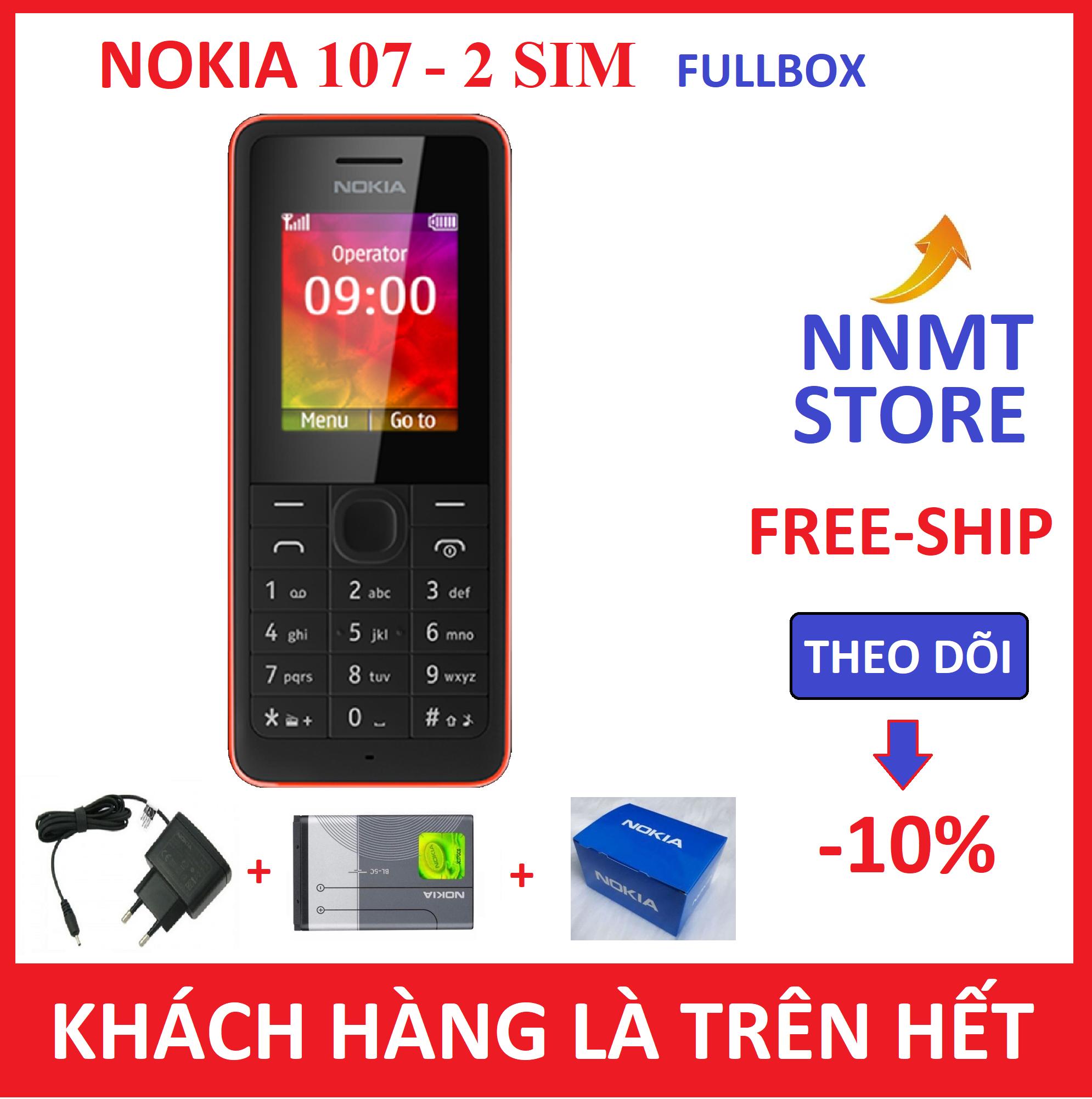 Điện thoại Nokia 107 2 SIM 2 SÓNG – (Máy pin sạc) – Hàng công ty Chính Hiệu – NNMT Store