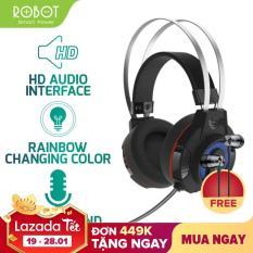 [Bảo Hành 12 tháng] Tai nghe chụp tai GAMING ROBOT G20 âm thanh 3D chống ồn Microphone 360 độ đèn LED 7 màu – Hàng Chính Hãng