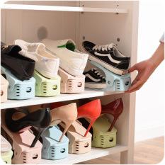 Kệ xếp giày bằng nhựa tiết kiệm không gian tủ giày