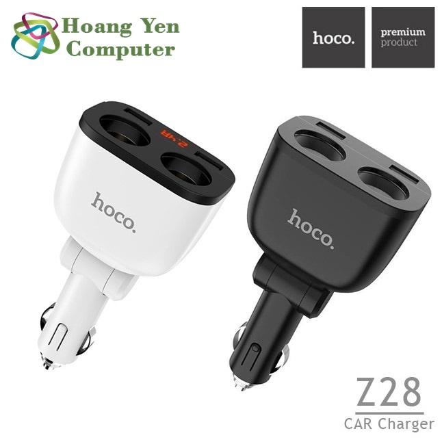 Cốc Sạc Xe Hơi Hoco Z28 Power Ocean 2 Cổng Tẩu Sạc, 2 Cổng Sạc USB - BH 1 Năm...