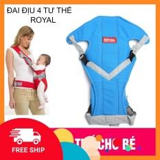 Địu 4 tư thế ROYAL hàng việt nam cho bé an toàn và thuận tiện, giúp các bấc cha mẹ có thể vừa di chuyển vừa địu con khi có việc phải đi ra ngoài hay làm việc nhà