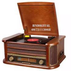 Máy hát đĩa than kiểu dáng cổ điển đa chức năng NF901 – Bluetooth CD USB Cassette FM ghi âm….