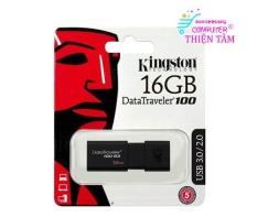 USB Kingston 16GB 3.0 DT100G3 Cài chép dữ liệu nhanh chóng Computer Thiện Tâm Bảo Hành 12 tháng