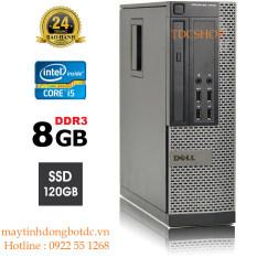 Case máy tính đồng bộ dell optiplex 7010 core i5 3470, ram 8GB, ổ cứng ssd 120GB. Hàng Nhập Khẩu