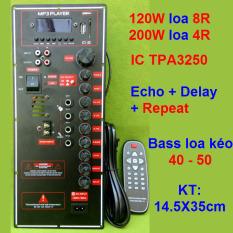 Mạch loa kéo công suất lớn loa kéo 3 tấc đôi hoặc 5 tấc đơn dùng IC TPA3250 – mạch cho âm thanh hay, sáng tiếng