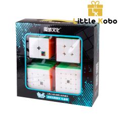 Combo 4 Rubik Không Viền Stickerless 2×2 3×3 4×4 5×5 Hàng Đẹp, Xoay Trơn, Siêu Bền Rubic Đồ Chơi Thông Minh MoYu MeiLong