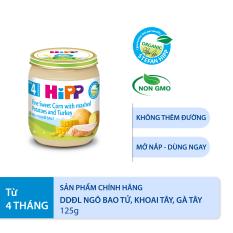 [BESTSELLER][QUÀ TẶNG HOT] Thức ăn dặm dinh dưỡng đóng lọ Ngô bao tử, Khoai tây, Gà tây (A) HiPP Organic 125g