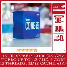 [Trả góp 0%]CPU Intel Core i5 10400 (2.9 GHz turbo up to 4.3 GHz 6 core 12 Threads 12MB Cache 65W) – Full box nhập khẩu