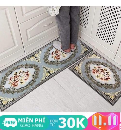 Thảm nhà bếp - Bộ 2 thảm lau chân 3d siêu đẹp Thảm nhà bếp, thảm bếp, thảm bếp dài,...