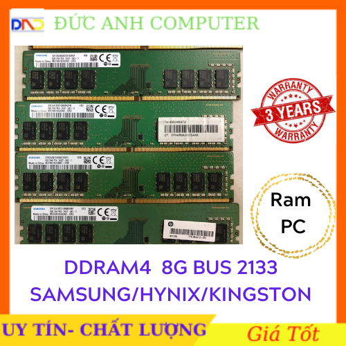 Ram DDR4 (PC4) 8gb bus 2133 ram zin máy đồng bộ siêu bên và ổn định bảo hành 3 năm 8g bus 2133 Ddram4 8g