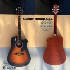 Đàn guitar acoustic Rosen G11 chính hãng – tặng kèm đầy đủ phụ kiện