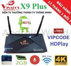 Hộp Android Tivi Box VINABOX X9 PLUS (Voice Search) + Tặng VIPCODE HDPlay – Phân Phói bởi Android World