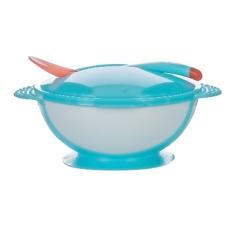 Bát Ăn Dặm Chống Đổ Kèm Nắp Và Thìa Cảm Ứng Nhiệt Upass Cho Bé Không Chứa BPA UP5001W (xanh-hồng-cam-xanh lá)