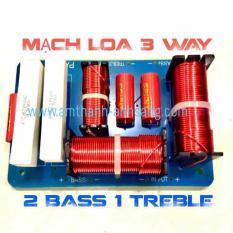 Mạch phân tần loa 3 way dòng chuyên nghiệp 2 bass 1 treble, 01 cái mạch loa đôi, 2 bass 40, 1 treblle 750,mach phan tan, mach loa,