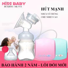 Máy hút sữa điện đơn Miss Baby có chế độ Massage kích sữa điều chỉnh 9 mức độ- Thiết kế thông minh tiện dụng- Tháo lắp dễ dàng- chất liệu nhựa PP an toàn tuyệt đối với trẻ – BẢO HÀNH 2 NĂM ĐỔI MỚI 1-1 TRONG 7 NGÀY NẾU CÓ LỖI