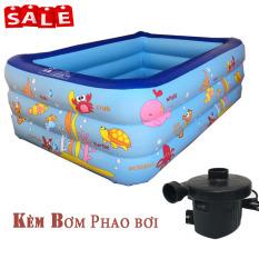 [ Mua 1 Tặng 1 ] Bể bơi 3 Tầng + Kèm bơm hơi – Bồn bơi cho bé – Bể bơi phao cho bé – Bể bơi mini – Bể bơi phao – Center shop