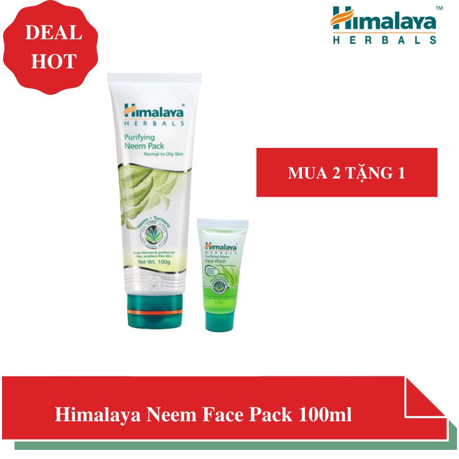 Mặt nạ đất sét lá neem giúp kiềm dầu, ngừa mụn, dịu da – Himalaya Herbals Neem Face Pack 100 ml