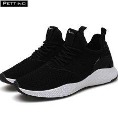Giày Sneaker Nam, Giày Thể Thao Nam Cao Cấp Pettino PS01 (Đen – Đen xám)