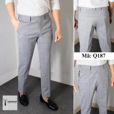 Quần âu nam kẻ caro mờ chất vải cotton cao cấp , chuẩn thiết kế hàn quốc, cực tôn dáng, lịch sự, trẻ trung (QAKS)
